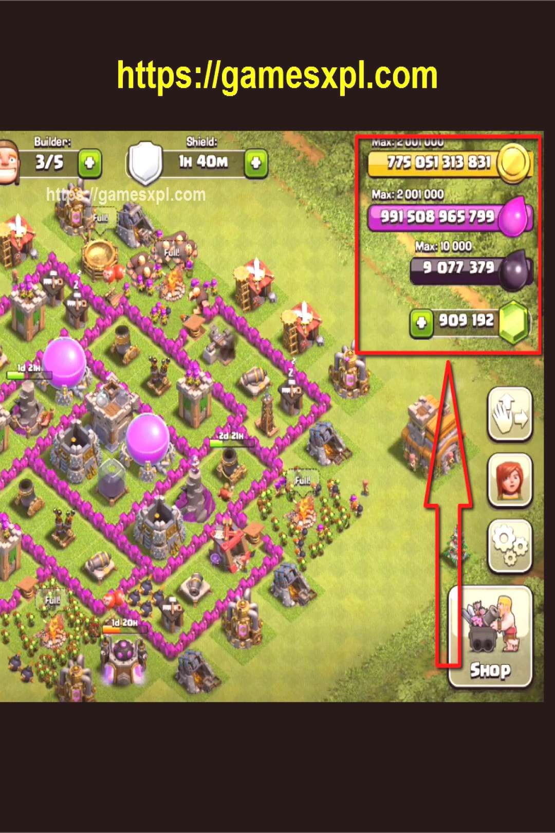 Clash of clans hack get unlimited gems gold elixir and
