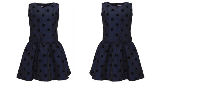 Name It Mädchen Kleid by Heine mit Punkten Gr. 104 navy ...