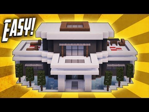 Minecraft How To Build A Modern House Tutorial 20