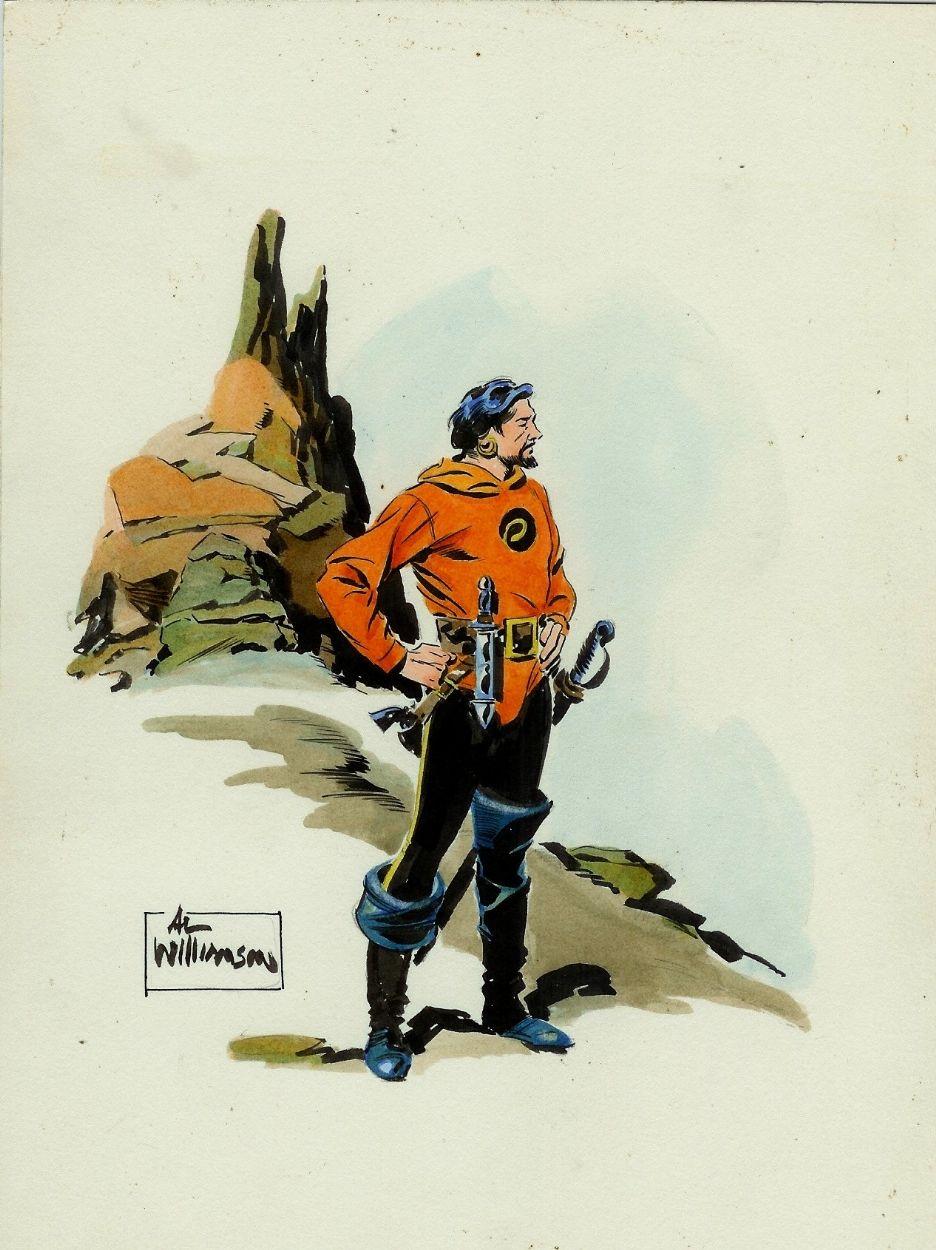 Al Williamson Vintage Flash Gordon Watercolor Comic Art