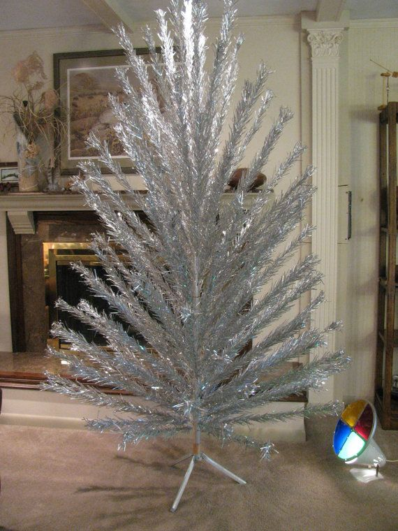 Sale 7 Ft Evergleam Aluminum Christmas Tree W Revolving Light Aluminum Christmas Tree Christmas Tree Sale Christmas Tree