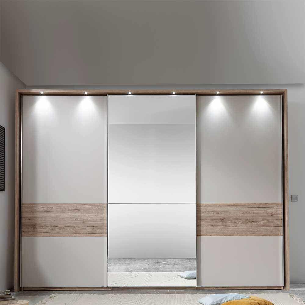 Schiebetüren Wohnzimmer schlafzimmerschrank in eiche bianco creme weiß schiebetüren jetzt
