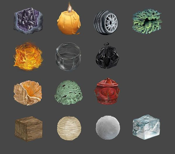Digital Painting Textures Study on Behance Material Studies