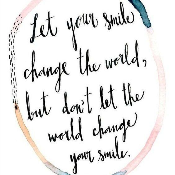 A smile can mean the world to someone - wear it regularly!