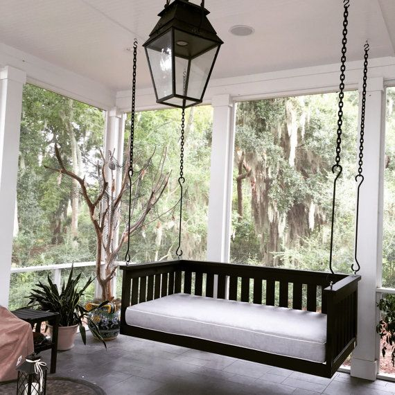 Steel S Hooks Chain To Hang Swing Bed Package Comes With 4 Hooks Porch Swing Bed Porch Furniture Daybed Swing