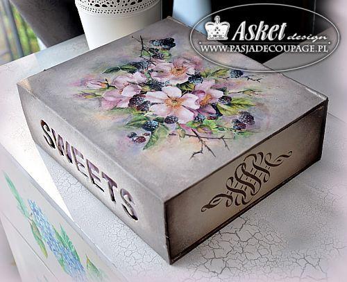 Ideas To Decorate A Box Decoupage Pudełko Wysuwane Z Szufladką  Декупаж Работы