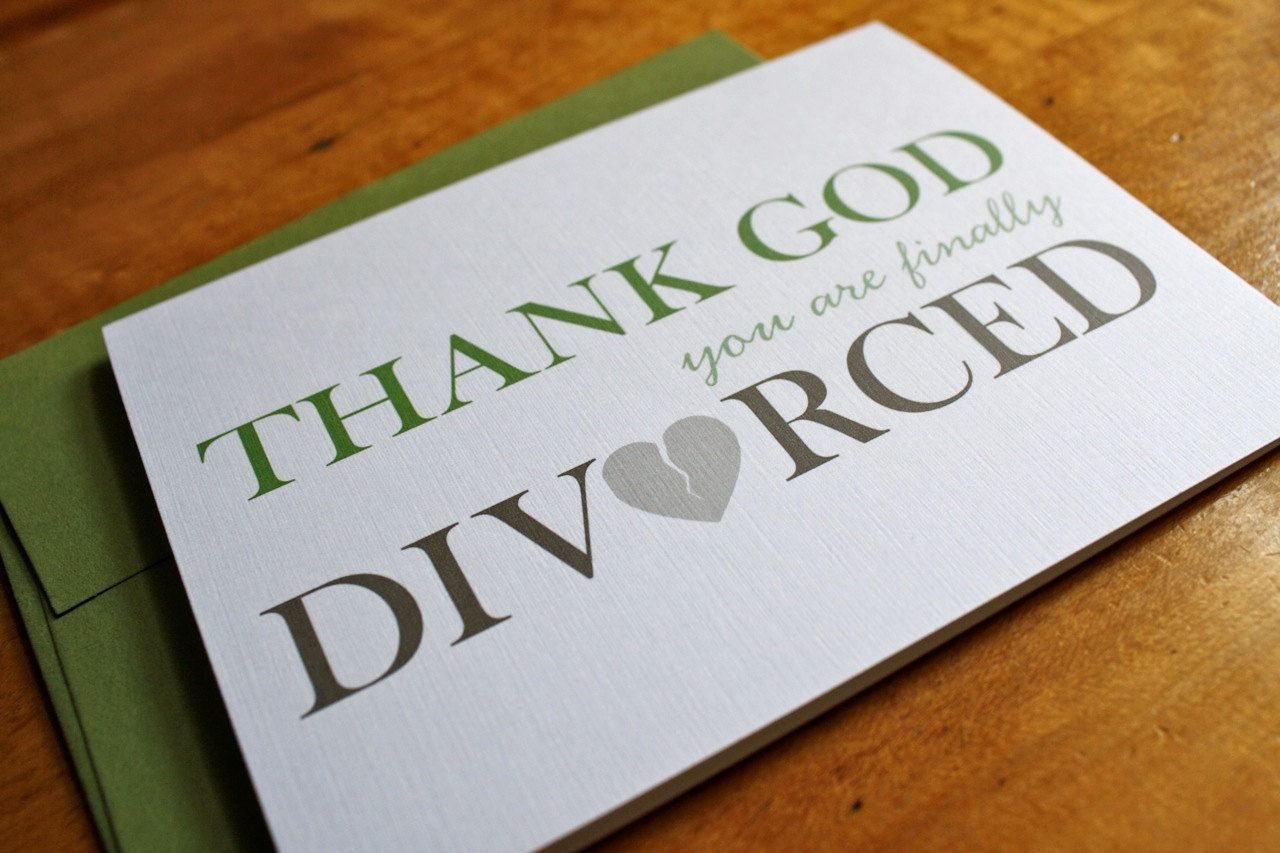 Thank god finally divorced card. http: www.etsy.com listing