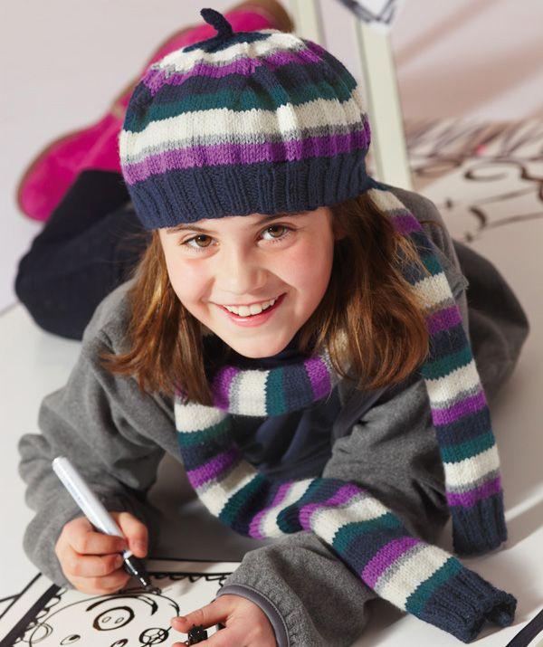 Mütze Schal Für Mädchen Anleitung Stricken Pinterest