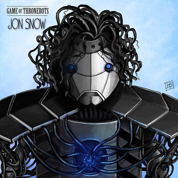 Description: JOHN SNOW-BOT - Game of ThroneBot illustration series This is an 8.5 x 8.5 GICLEE PRINT of an illustration completed by Billi French This art piece was completed digitally using Photoshop Printing: Final print is printed on art quality Hammermill Digital cover 80 lb Paper using an Epson SureColor P400 Photo Printer  Shipping Details: Prints are shipped in a flat rigid cardboard mailer sandwiched between two flat cardboard pieces  Thanks for browsing my artwork and please check…