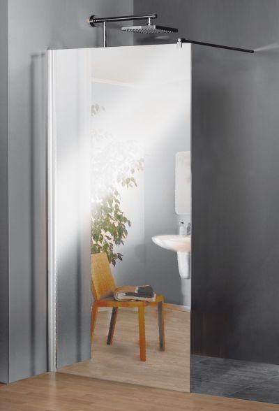 Schulte schulte duschwand alexa style free mit spiegelglas - Duschwand badewanne ikea ...