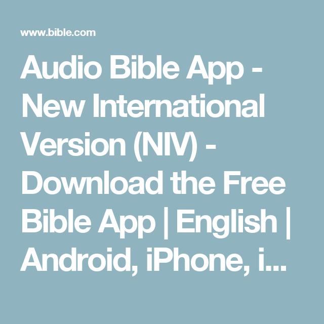 Audio Bible App - New International Version (NIV) - Download the