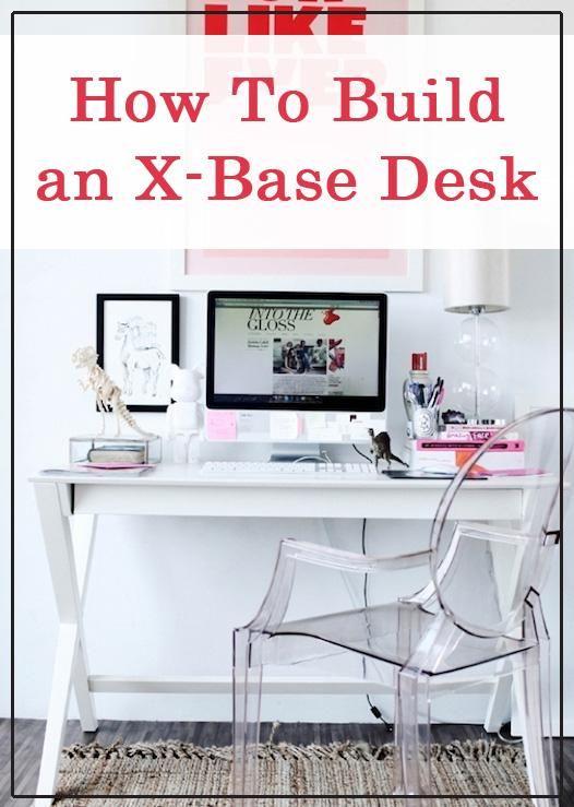 DIY Desk: DIY Furniture: DIY Home Idea: Make an X desk