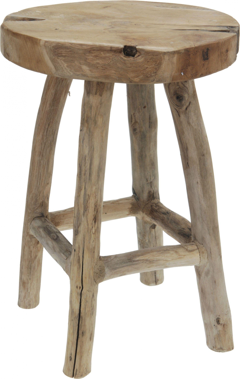 Hocker NAMIBIA (DH 30x42 cm) in braun Holz und Wohnzimmer günstig ...