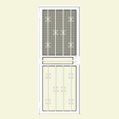 Unique Home Designs 32 In X 80 In Moorish Lace White Recessed