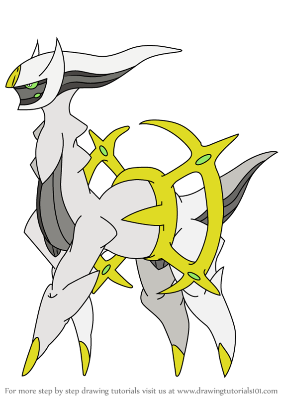 Step By Step How To Draw Arceus From Pokemon Drawingtutorials101 Com Pokemon Sketch Pokemon Drawings Drawings