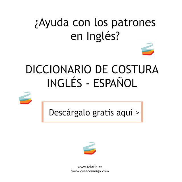 la inglesita: Diccionario de costura Inglés-Español GRATIS | Crochet ...