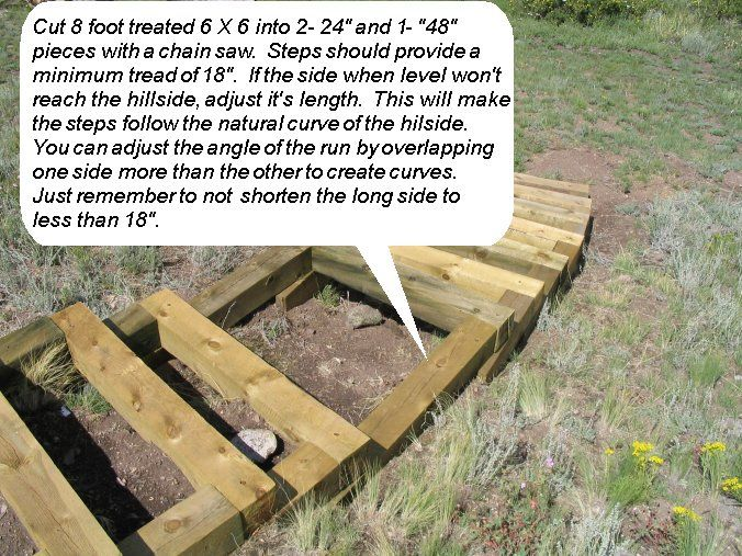 How to build steps up a hill homestead pinterest for How to build a house on a steep slope
