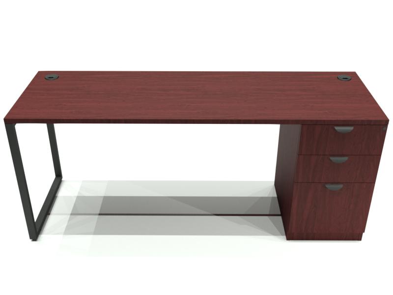 Closeout Special Emerald Collection Desk W Pedestal Filing Cabinet 24 D X 60 W X 29 H Applewood Laminate Desk Metal Desk Legs Interior Design Singapore