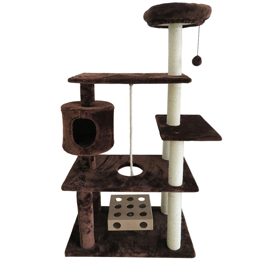 Furhaven Tiger Tough Cat Tree House Furniture For Cats And Kittens Deluxe Playground Brown More Info Could Be Fou Cat Tree House Tree House Designs Cat Tree