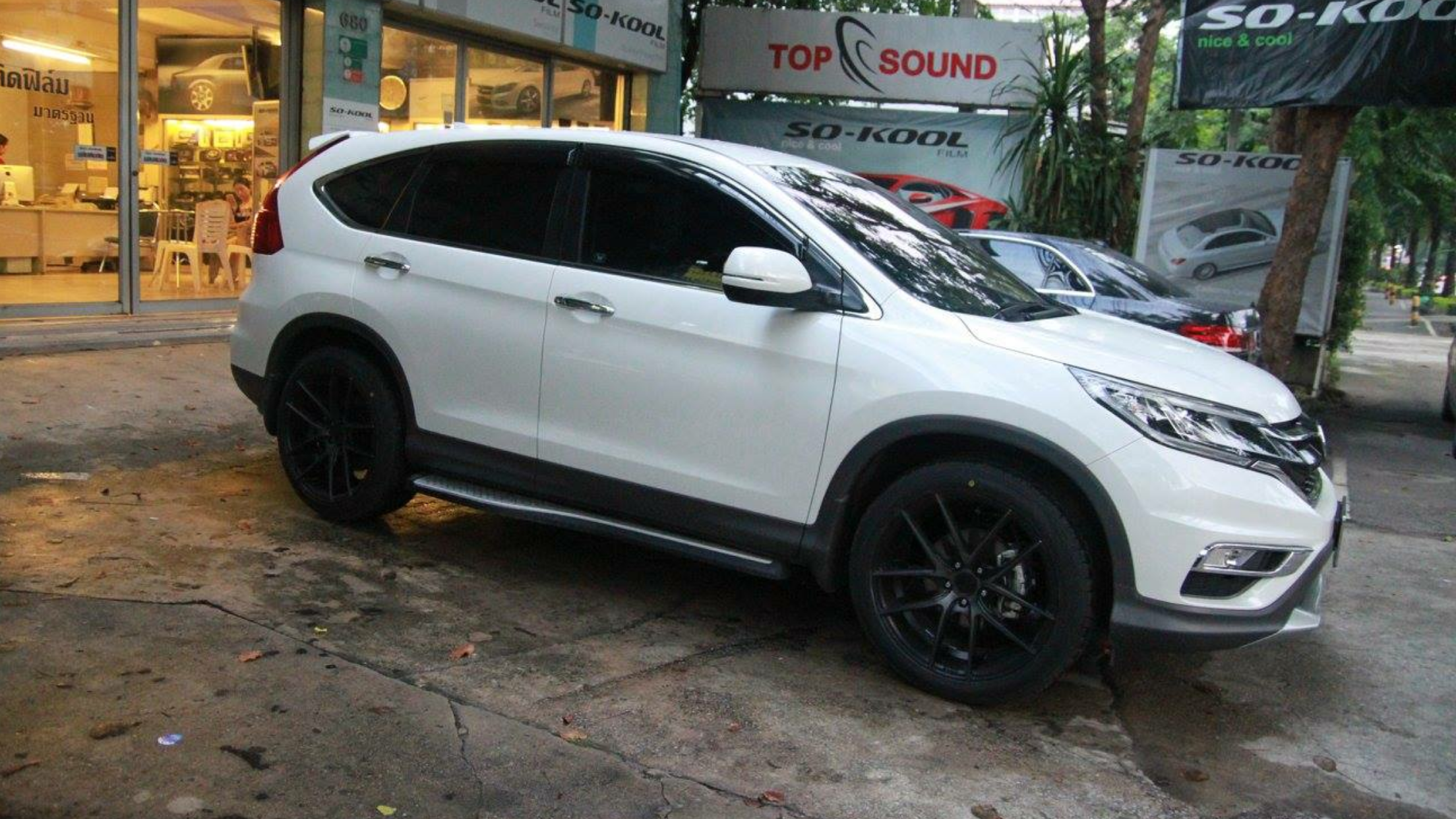 2016 Honda Cr V On Aftermarket Wheels