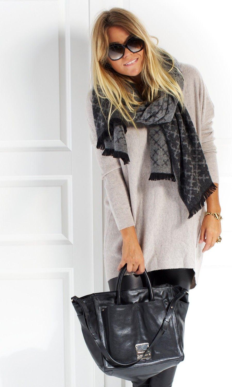 ab352b7aa85fc3 Ominda Wool Scarf Grey - Scarves - Accessories