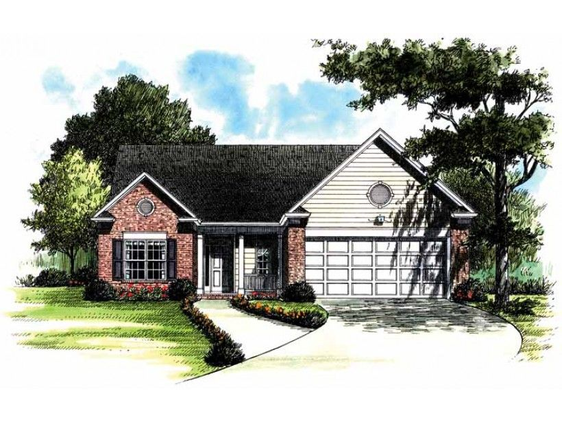 Colonial Style House Plan 3 Beds 2 Baths 1402 Sq Ft Plan 453 282 House Plans Cottage House Plans Colonial Style Homes