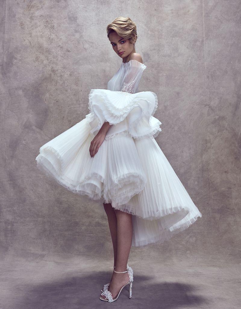 vintageinspired puff sleeve wedding dresses that make a timeless