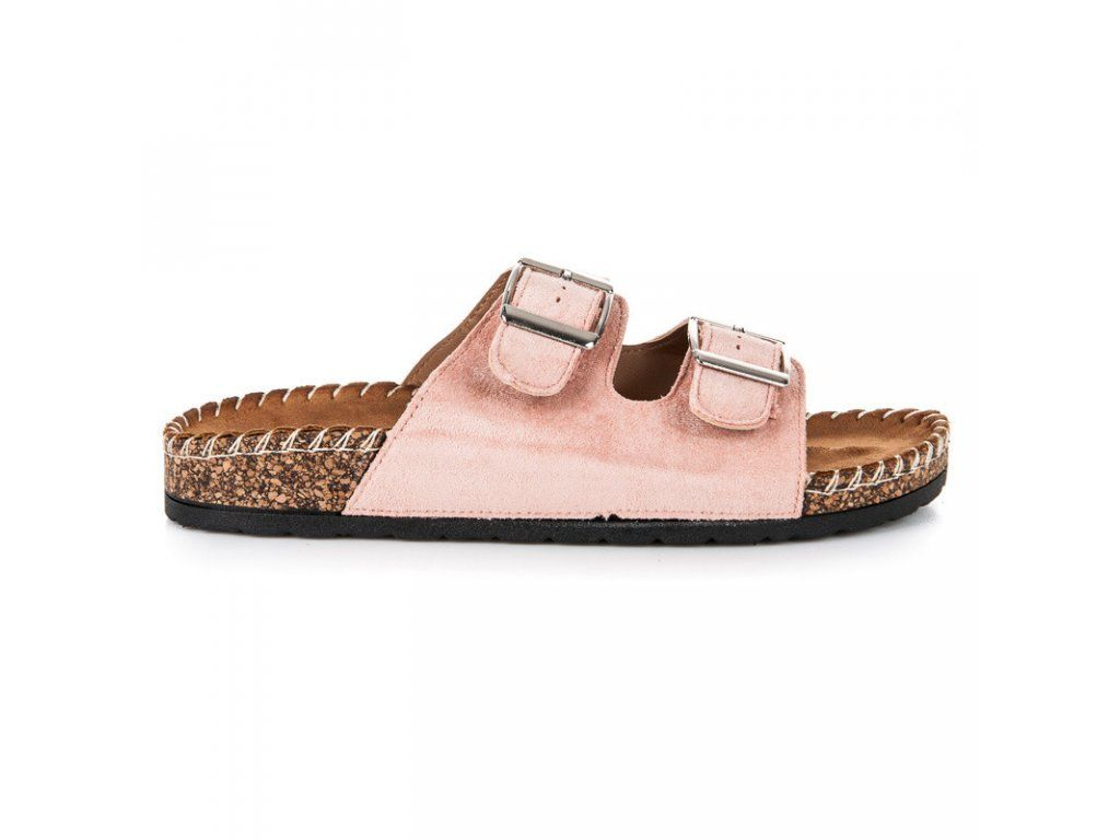 7dfb4f8c6513 Ružové semišové šľapky Seastar