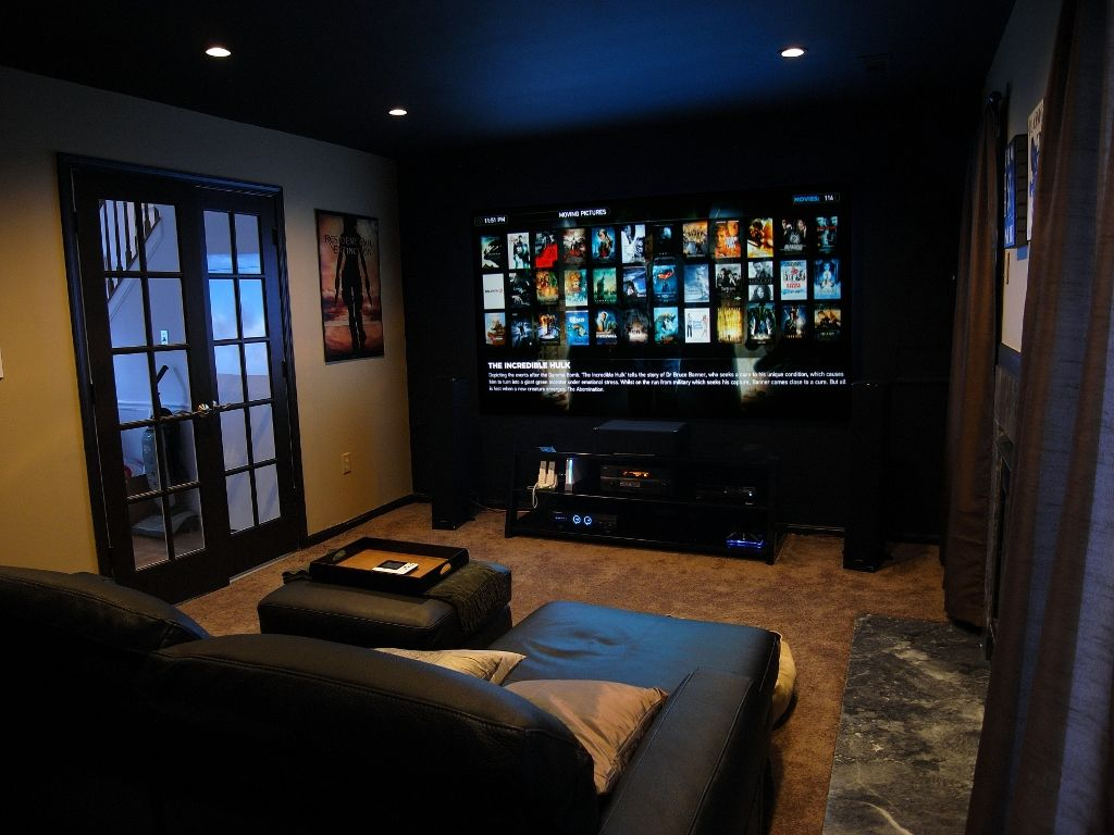 21 Basement Home Theater Design Ideas Awesome Picture Small Rooms Dark Walls And Wall Colors