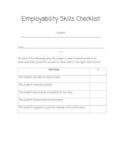 employability skills checklist