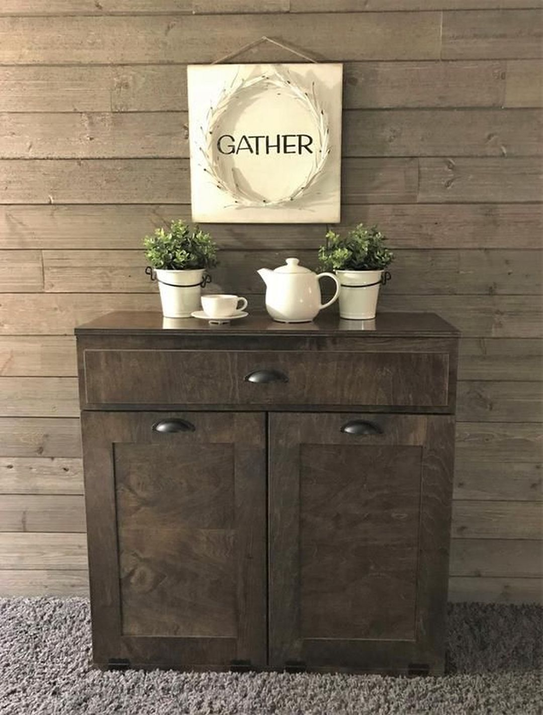 15 Best And Unique Rustic Trash Can Ideas for Outdoor ...