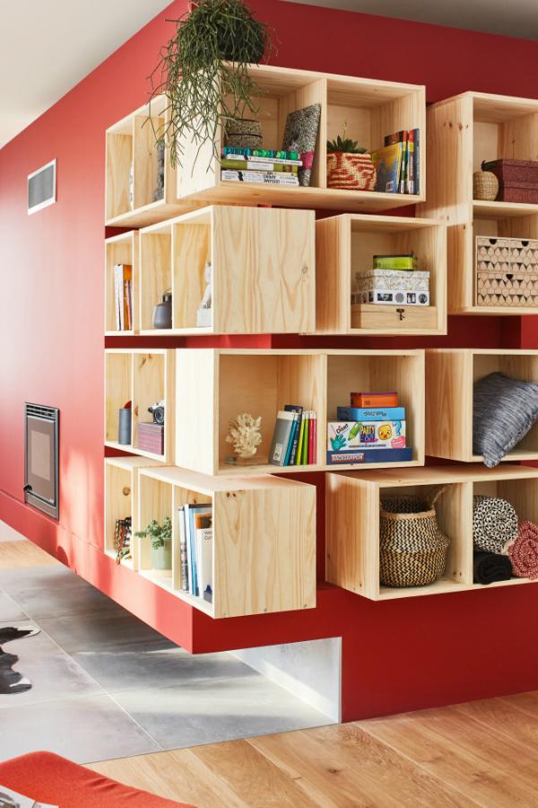 Optimiser L Espace Dans Le Salon Cube Rangement Rangement Mural Cuisine Case De Rangement