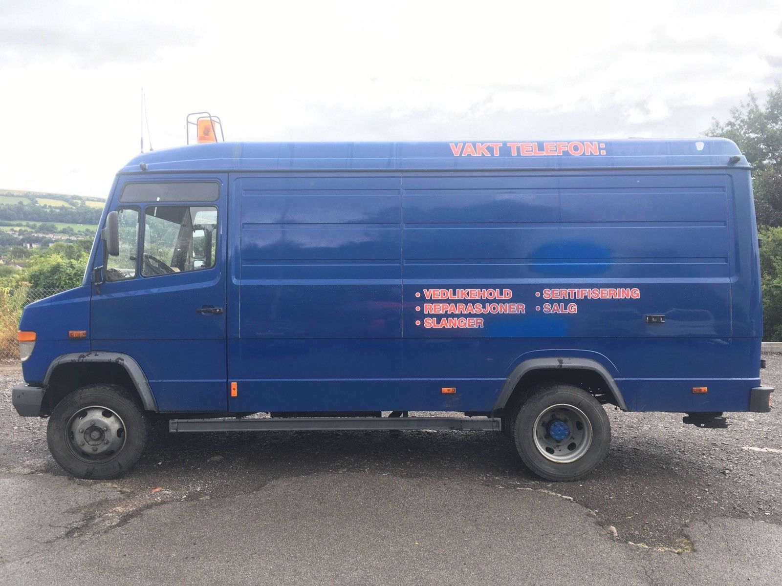 Mercedes Benz Vario 812d Lhd Left Hand Drive Mobile Workshop Pto