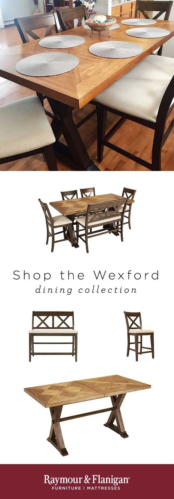 Wexford 6 Pc Counter Height Dining Set W Bench Dining