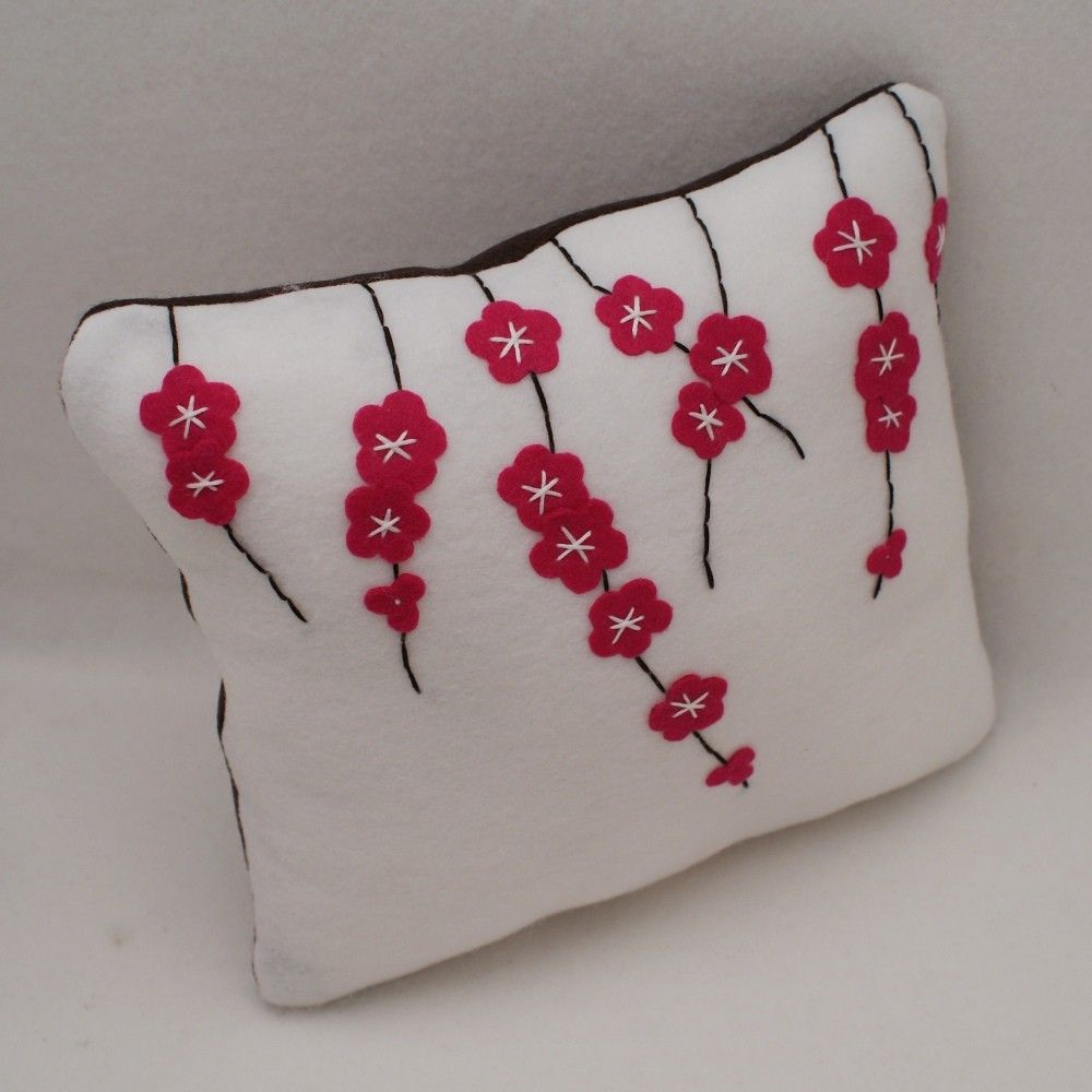 Items similar to Cherry Blossoms - Eco Felt Cushion Cover - 12x12 on ...