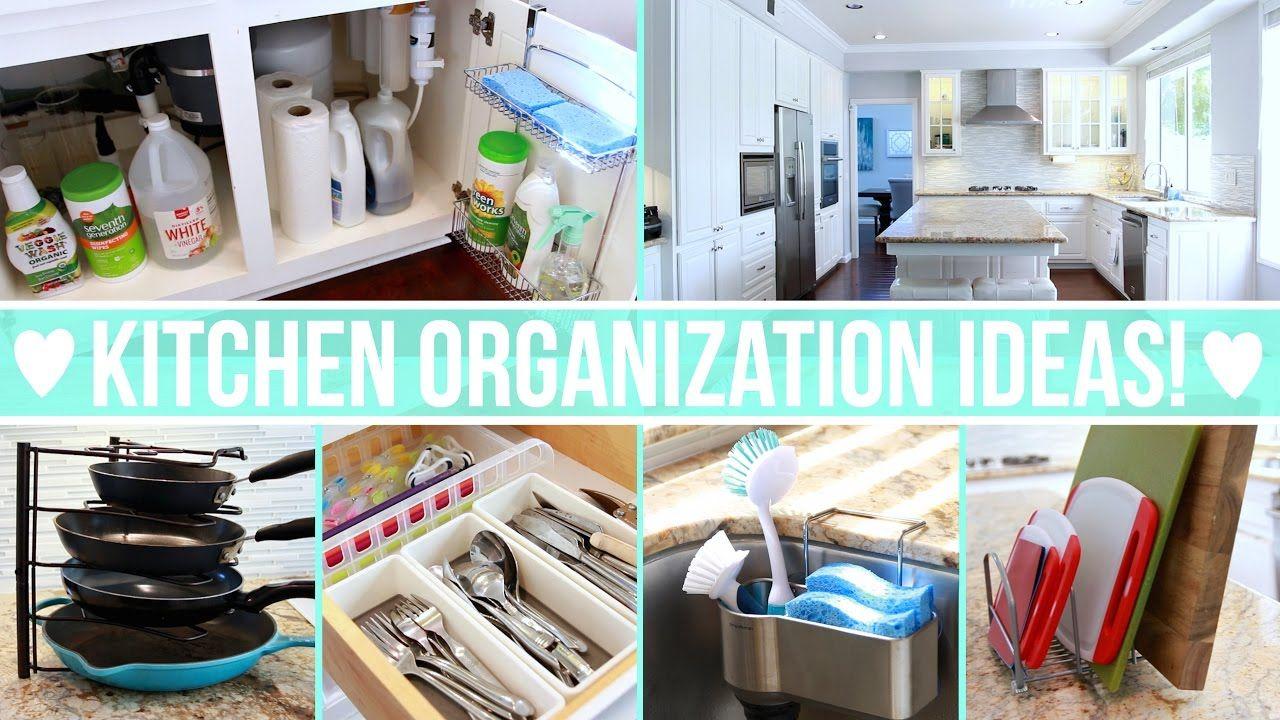 EASY Ways To Organize Your Kitchen Including: Kitchen Storage, Under The  Sink Organization, Kitchen Tools And Supplies Organization, Countertop  Organization ...
