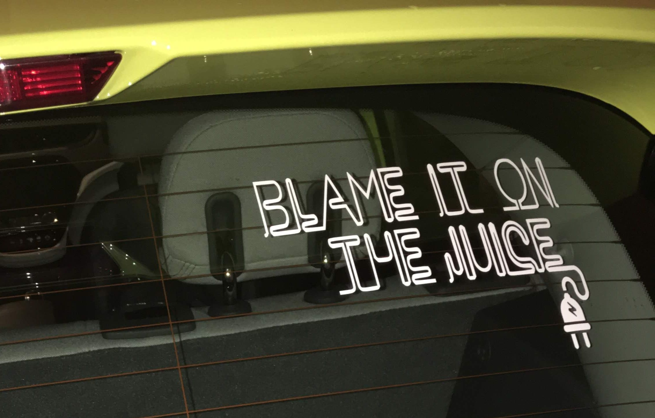 Blame It On The Juice Funky Electric Vehicle Vinyl Decal Etsy Electric Cars Vinyl Decals Fantasy Cars [ 1445 x 2264 Pixel ]