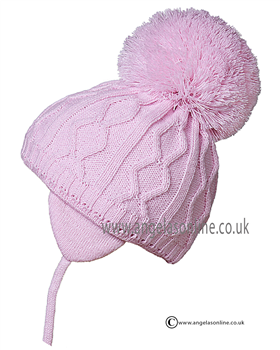 1d281f5d11e Satila hats for baby girls. Designer bobble hats with tie cords by  Satila.Traditional pom pom hats from Satila. Popular warm