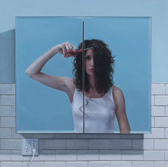 """Katie O'Hagan   Paintings > """"Reflection"""" So hyper-awesome!"""