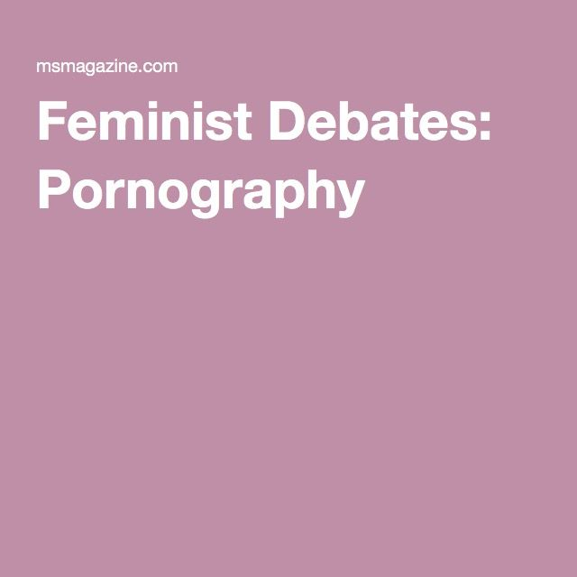 Can liberal position on pornography are not