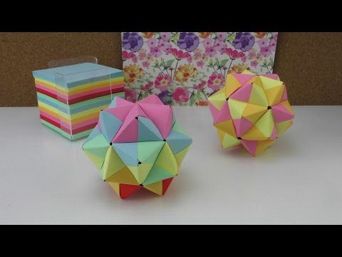 origami stern modulares origami anleitung 3d stern aus papier basteln youtube origami. Black Bedroom Furniture Sets. Home Design Ideas