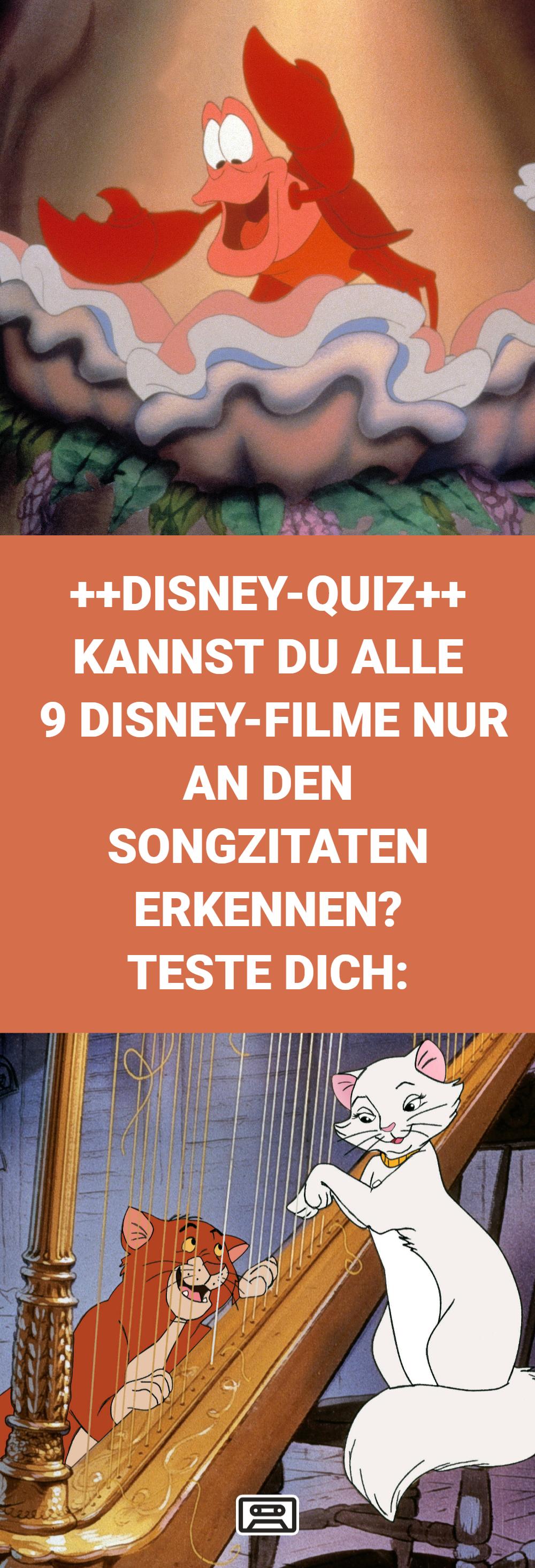 Jeder kennt die Lieder aus den Disney-Filmen! Allein schon