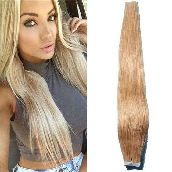 20malaysian Straight Tape In Virgin Human Hair Weft Extensions I