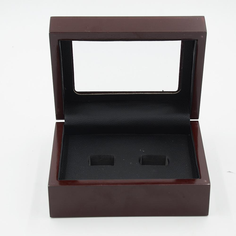 Solid Wooden Display Box With Clear Display 2 Holes In 2019