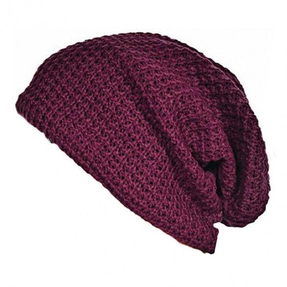 5604b64440334e European Unisex Adult Men Women Warm Winter Knit Ski Beanie Slouchy Soft  Solid Cap Hat
