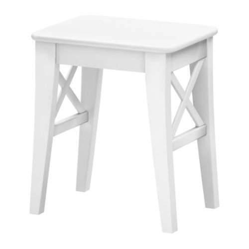 Ikea Ingolf. Vanity? This is the cutest little stool and I could