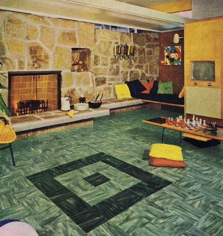More Green Lino Asbestos Tile Bold Paint Colors Linoleum