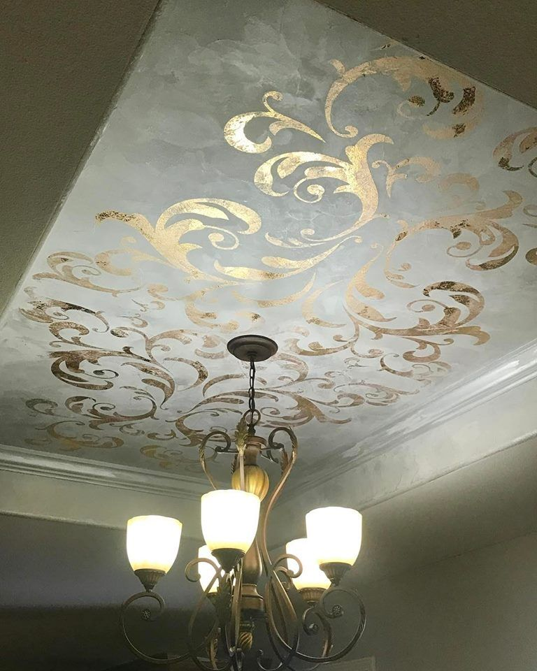 Stenciled Dining Room Ceiling Ceiling Murals Dining Room