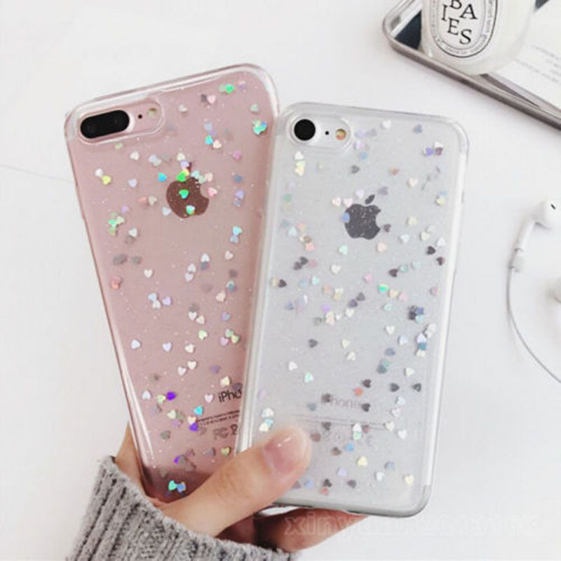 wholesale dealer 39378 fad2b 2.45AUD - Bling Glitter Sparkle Rubber Soft Clear Silicone Case ...