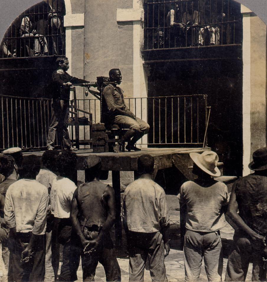 Ejecución por garrote vil en Cuba (1880)
